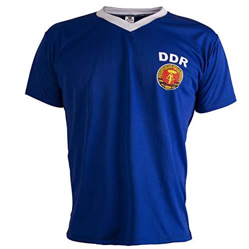 East Germany DDR 1970's Retro Football Shirt Mens Top - XL Blue