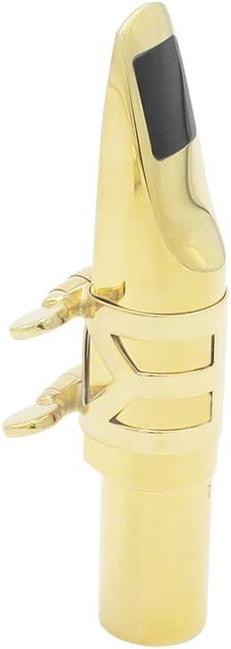 Andoer Alto Sax Saxophone Mouthpiece Metal with Mouthpiece Pads (8C)