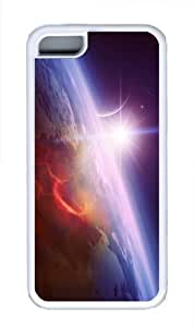 best covers space sun planet TPU White Case for iphone 5C