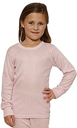 Octave Girls Thermal Underwear Long Sleeve Top (Viscose, Fancy Knit) (2-3 yrs [Chest: 18-20 inches], Pink)