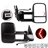 YINTATECH Towing Mirrors For 2007-2013 Chevrolet/GMC/Cadillac Silverado/Sierra Pair Set Power Tow Heated Telescoping with LED Arrow Signal Light Side Mirrors£¨Just 07 New Body£