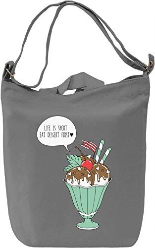 Eat dessert Borsa Giornaliera Canvas Canvas Day Bag| 100% Premium Cotton Canvas| DTG Printing|