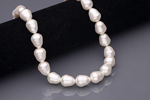 Cream A++ Grade Shell Pearls Fancy Teardrop (Teardrop Shell Beads)