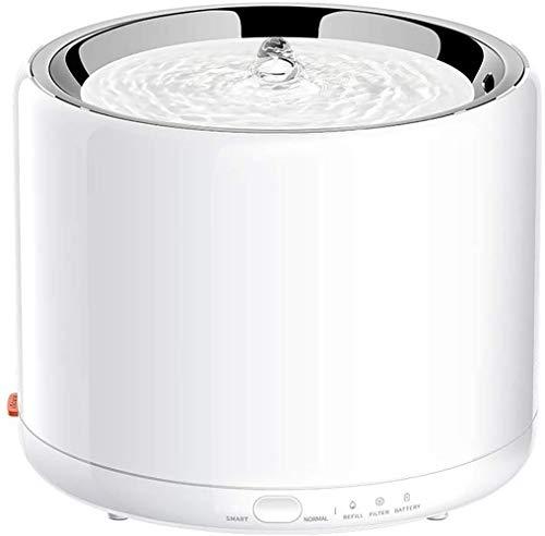 PETKIT 2.0 Dispensador Automático de Agua Inteligente para Perros y Gatos-Anti Burn out/Super Quiet/Alarma de escasez de Agua/Alarma de Cambio de Filtro (Blanco 3.0)
