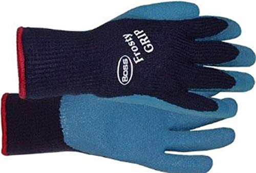 Boss Manufacturing Company 8439L Frosty Large Grip Glove, Blue (Best Glove Manufacturing Company)