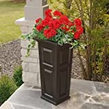 Mayne 4833-ES Nantucket Tall Patio Planter in Espresso (Espresso)