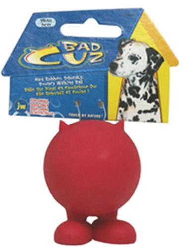 JW Pet Bad Cuz hule Dog Toy, Multicolor Cuz Squeaky Dog Toy