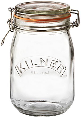 Quart-Sized Clip Top Canning Jar