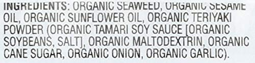 GimMe Health Foods Organic Roasted Seaweed Snack, Teriyaki, 0.17 ounce, (Pack of 48) by Gimme Health Foods (Image #4)
