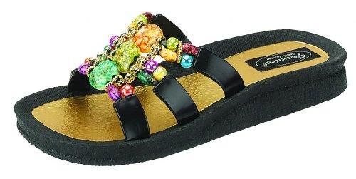 Grandco Women's Mystical Slide Black Sandal 10 M US