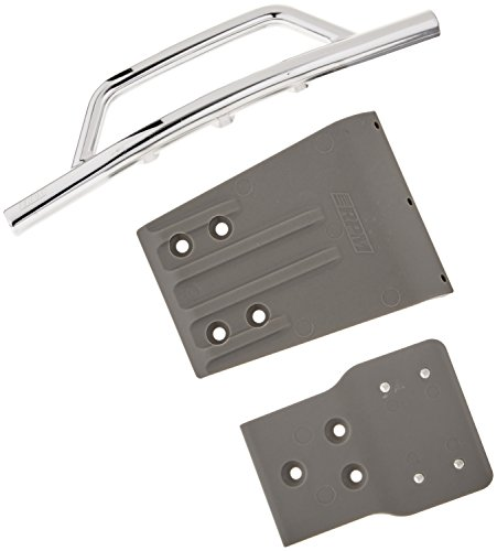 RPM Traxxas Slash 4x4 Front Bumper and Skid Plate, Chrome