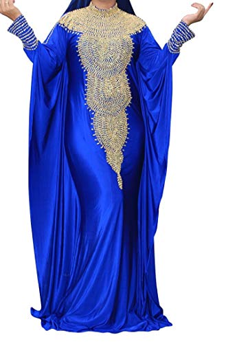 WUBU Sexy Boho Kaftan Maxi Casual Party Prom Long Evening Dress Cocktail Beach Dresses