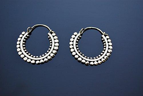 Dotted Brass Tribal Earrings/Brass Earrings/Antique Earrings/Indian Jewelry/Vintage Style Earrings/Tribal Earrings/Brass Hoop Earrings 79 (Hoop Dotted)