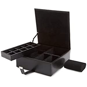 WOLF 290702 Heritage Large Valet Case, Black