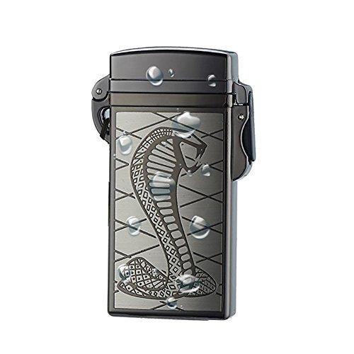 Waterproof Snake (Electronic Lighter Oiikury Outdoor Waterproof Windproof Rechargeable Electric Cigarette Arc Lighter (Black snake))