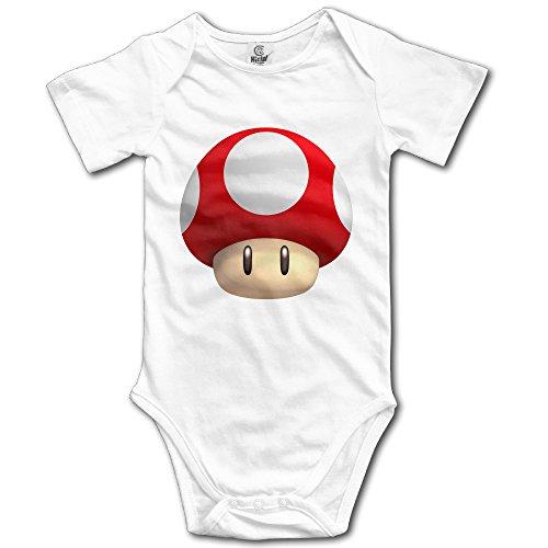 Mario Suit (Popular Mushroom Super Mario Baby Onesie Baby Bodysuit)