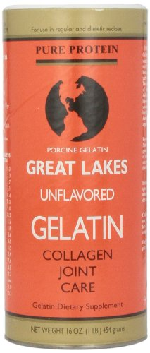 Great Lakes Unflavored Gelatin  Regular  16 Ounce Can