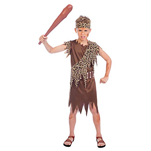 Amscan International 9904444 Costume, Girls, Cave Boy 6-8 years -