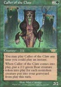 Magic: the Gathering - Caller of the Claw - (Card Claw)