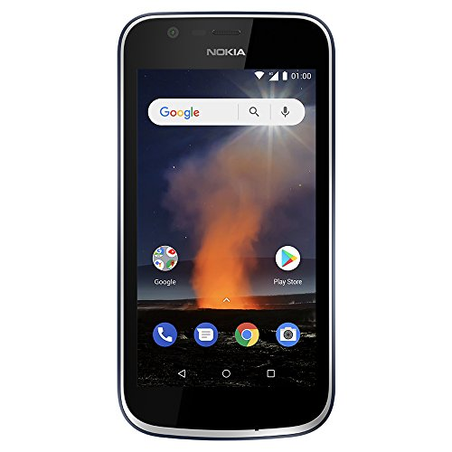 Nokia 1 - Android One (Go Edition) - 8 GB - Dual SIM LTE Unlocked Smartphone (AT&T/T-Mobile/MetroPCS/Cricket/H2O) - 4.5
