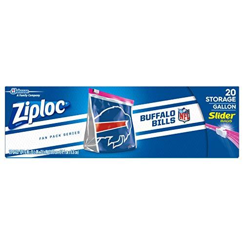 Ziploc Brand NFL Buffalo Bills Slider Gallon, 20 ()