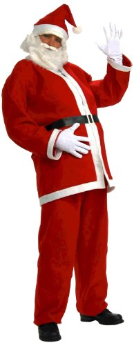 Forum Novelties Simply Santa Costume, White/Red, One Size (Santa Claus Costumes For Sale)