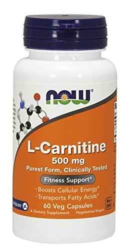 NOW L-Carnitine 500mg, 60 Veg Capsules Review