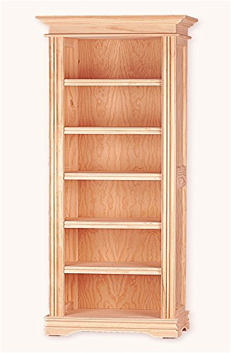 Muebles Natural - Librero Valentino 80, Biblioteca neoclásica de 5 ...