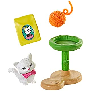 Barbie Accessory Pack, 4 Pieces, with Kitten Figure and Accessories (GHL81)
