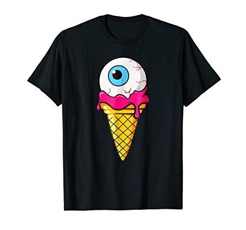 Graffiti Ice Cream Cone Monster Eyeball Girls Boys T-Shirt ()