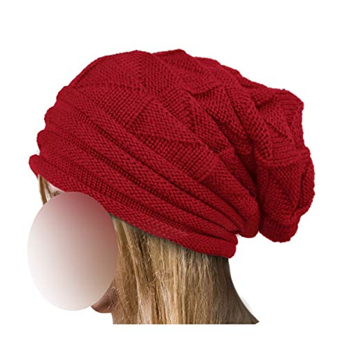 Hat Women Winter Wool Knitted Cap Natural Fur Pompom Solid Colors Ski Gorros Cap Causal
