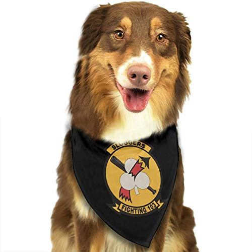 HJKH PJKL Magnet US Navy VF-103 Sluggers Squadron Pet Dog Puppy Cat Triangle Bibs Scarf Bandana Collar Neckerchief Mchoice - Any ()