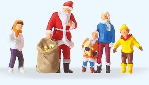 Santa Claus Train - SANTA CLAUS WITH CHILDREN - PREISER HO SCALE MODEL TRAIN FIGURES 29098 by Preiser