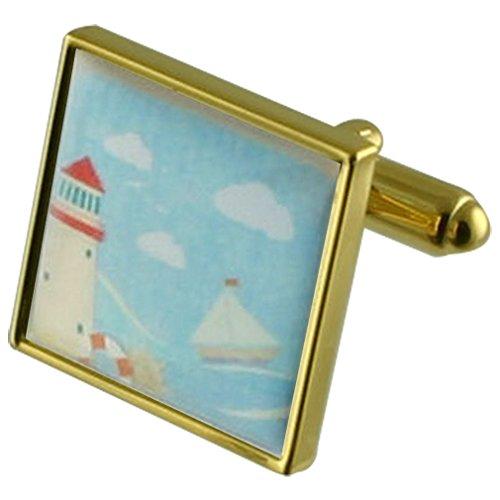 Lighthouse Carte postale Manchette avec gravé souvenir