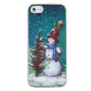 conseguir Cambio de sentido nuevo llamamiento flash de la luz del color del muñeco de nieve llevó la cubierta del caso para el iphone 5 , Negro