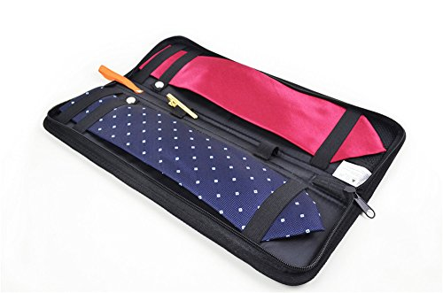 Tie Storage Case Travel Necktie Organizer Nylon Holder Bag