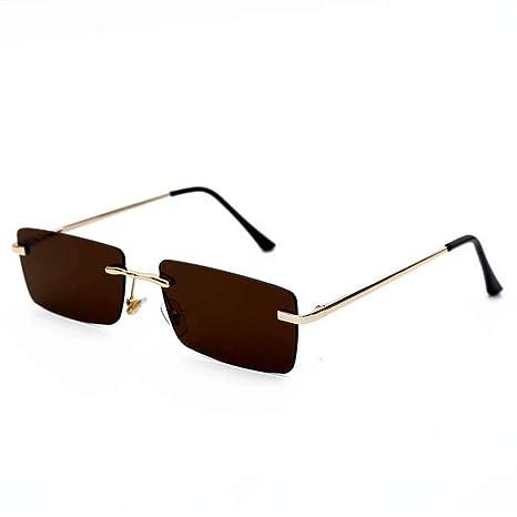 Yangjing-hl Gafas de Sol rectangulares Vintage para Mujer ...