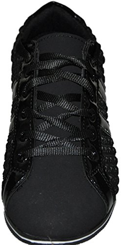 Tamboga - Zapatos de Cordones de Material Sintético Hombre Noir print
