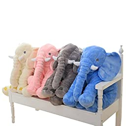 LOVOUS Big Stuffed Elephant Plush Doll Pillow, Grey