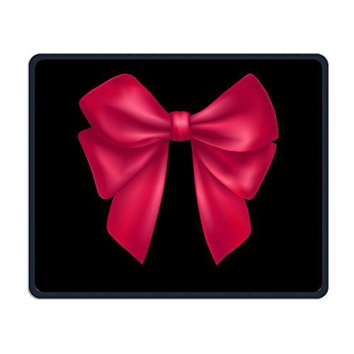 Dark Pink Bow Smooth Nice Personality Design Mobile Gaming Mouse Pad Work Mouse Pad Office Pad ()