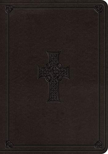 ESV Single Column Journaling Bible, Large Print (TruTone, Charcoal, Celtic Cross Design) (Esv Celtic Cross Bible)