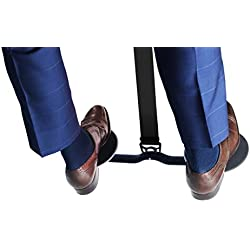 HOVR Under Desk Leg Swing - Sitting Exercise for Weight Loss, Increased Circulation, Burning Calories (Black)