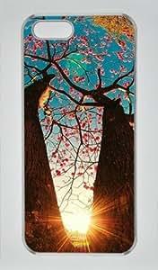 Sakuraelieechyan Trees at Sunrise Iphone 5/5S Hard Shell Transparent Sides Case