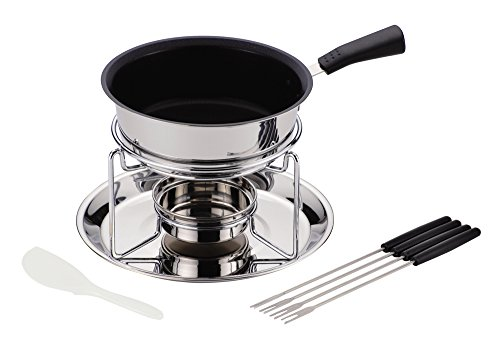 Pearl Cheese Set (Pearl metal bene three levels bottom cheese fondue set (internal fluorine processing) HB-3418 Japan)
