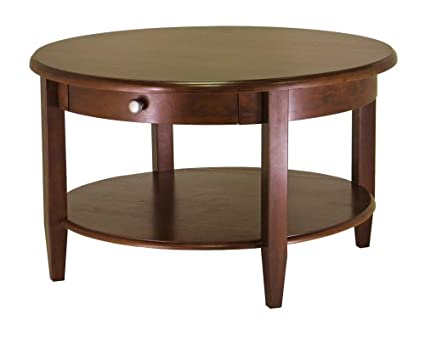 Amazoncom Winsome Wood Concord Round Coffee Table Kitchen Dining