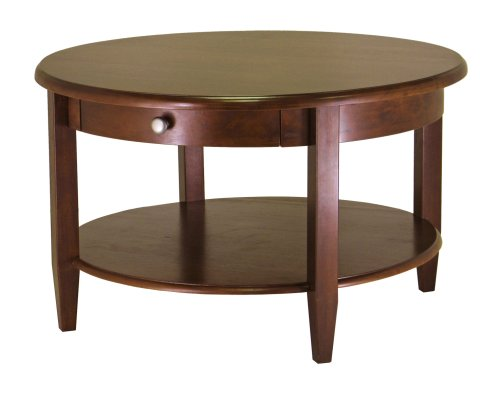 Sofa Cocktail Coffee Table - Winsome Wood Concord Round Coffee Table