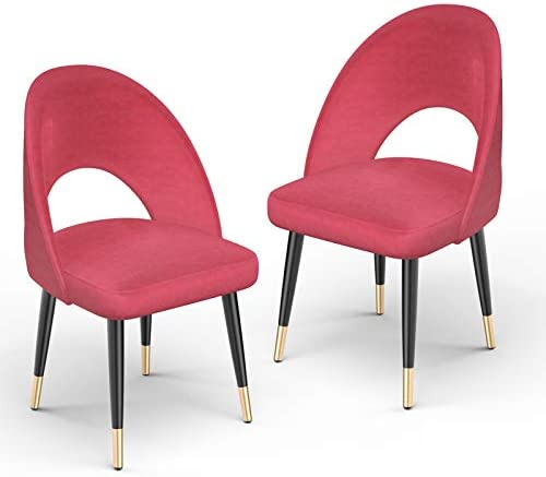 mecor Modern Velvet Dining Chairs Set of 2