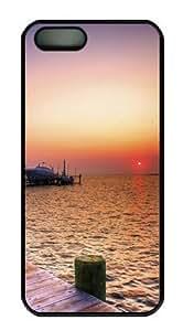 Boat on Lake-4 Sakuraelieechyan Hard Shell Black Side Cover Skin for Iphone 5 5S