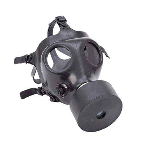 Israeli Rubber Respirator Mask for NBC Protection, Industrial Use, Chemical Handling, Painting, or Welding - with Drinking Straw