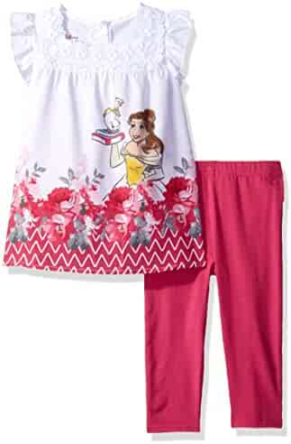 Disney Girls' 2 Piece Beauty and the Beast Legging Set